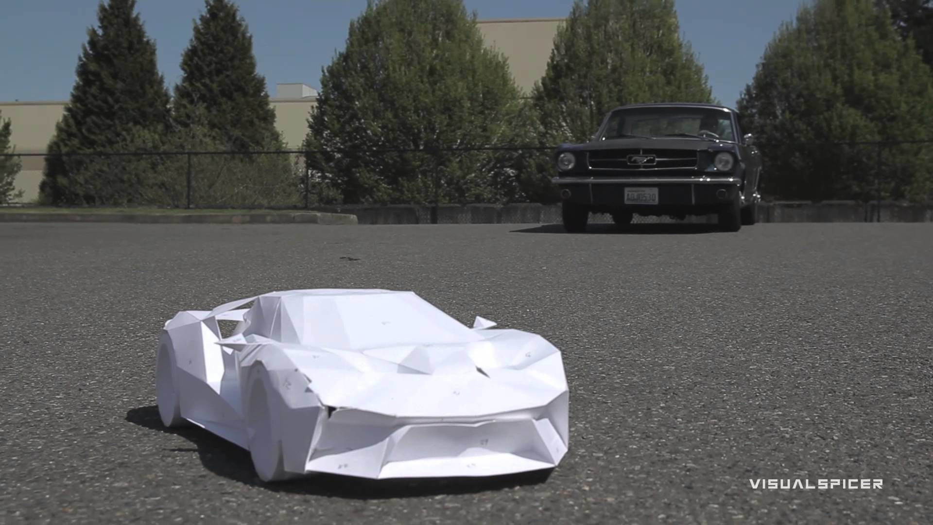 I wrecked my Ford GT inspired GT Legend paper supercraft!