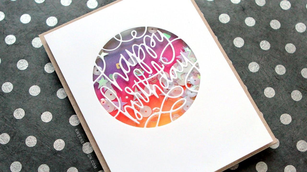 Ink Blended Birthday Shaker Card