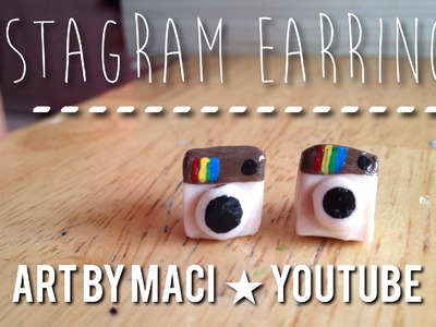 Instagram Earrings with Polymer Clay