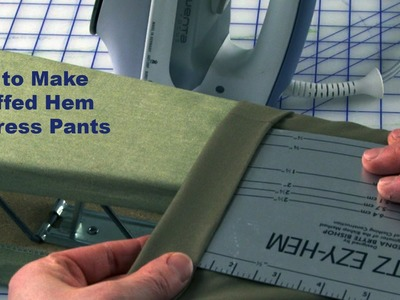J Stern Designs l Quick Tip:  How to make a Cuffed Hem on Dress Pants