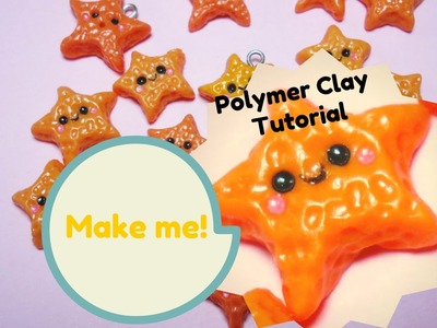 Kawaii Starfish ★ Stella Marina Kawaii ~ Polymer Clay Tutorial