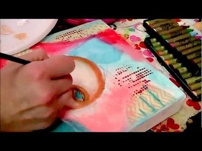 """Letting Go""Part 1 Whimsical Folk Art Mixed Media Painting by Daniella Hawkes of Daniella Daydreams"