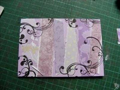 Make with Ruth - Purple Anniversary card.