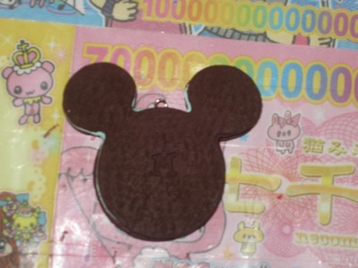 Mickey Mouse Chocolate Mint Ice Cream Sandwich (polymer clay)