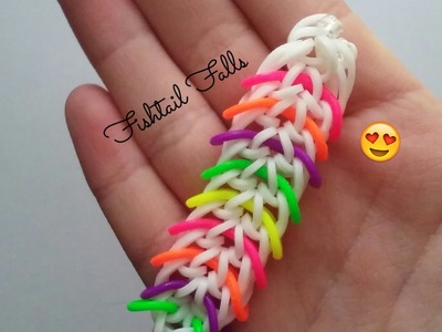 NEW Hook Only Fishtail Falls Bracelet~Rainbow Loom