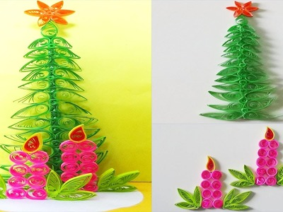 Paper Quilling: how to make a beautiful Christmas Tree Greeting Card
