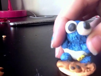 Polymer clay baby cookie monster part 2