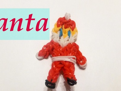 Rainbow Loom Christmas Charm - Santa Claus | Xmas Loom Bands Ornaments