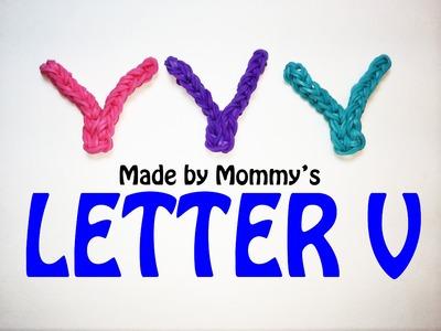 Rainbow Loom Letter V Charm Using Just the Hook