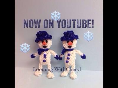 Rainbow Loom Snowman - Looming WithCheryl