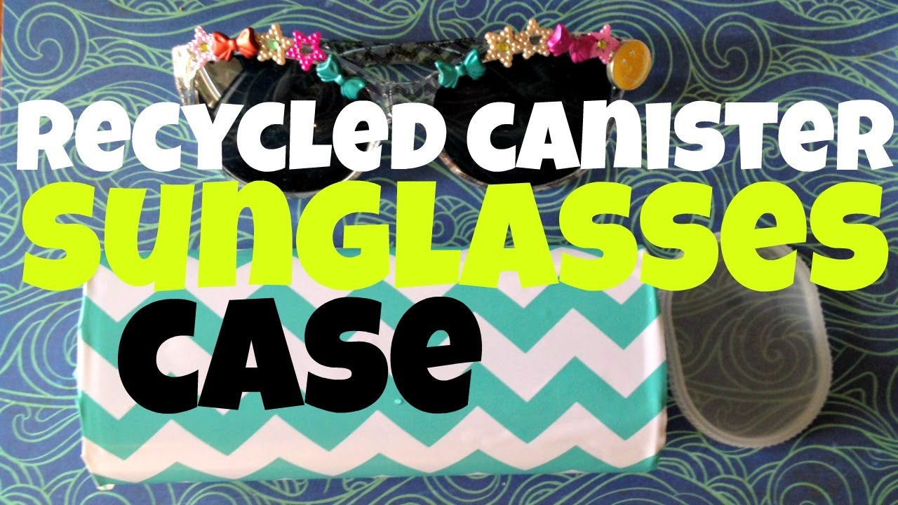 Recycled Crystal Light Canister Sunglasses Case
