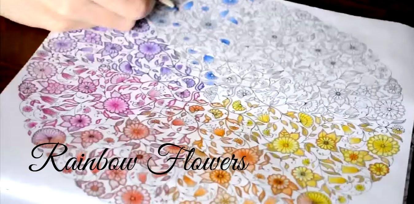 Secret Garden | Rainbow flowers | Jardim Secreto