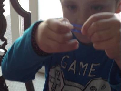Skylander Boy Presents: Rainbow Loom Bracelet 101