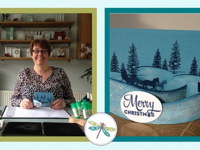 Speedy Christmas Bendy Card using Stampin' Up! Sleigh Ride Edgelits