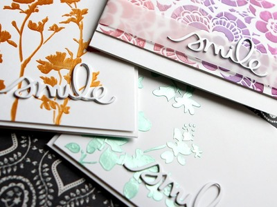 Tim Holtz Stencils & Colored Embossing Paste