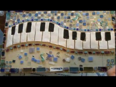 TUTORIAL-Mosaic keyboard with custom ceramic tiles step by step