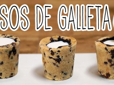 Vasos de galleta y chocolate, super facil - como hacer galletas - Tutoriales Belen