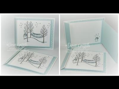 White Christmas Fun Fold card with Dawn