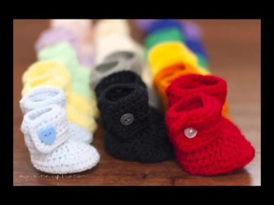 A Rainbow of Baby Button Boots
