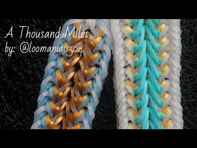 A THOUSAND MILES + VARIATION Hook Only bracelet tutorial