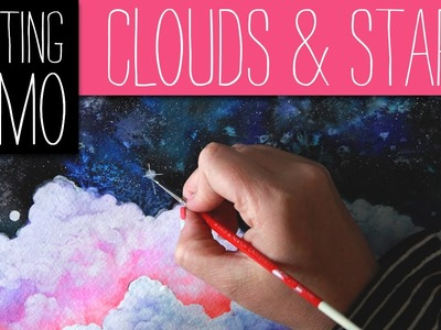 Clouds and Stars - Painting Demo - Stop-motion