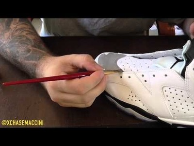 "Custom ""White Cement"" Air Jordan 6"