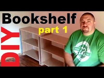 DIY 1.0 Build Hardwood Bookshelves, Book Cases, Entertainment Center, Storage Shelves, Utility Shelf