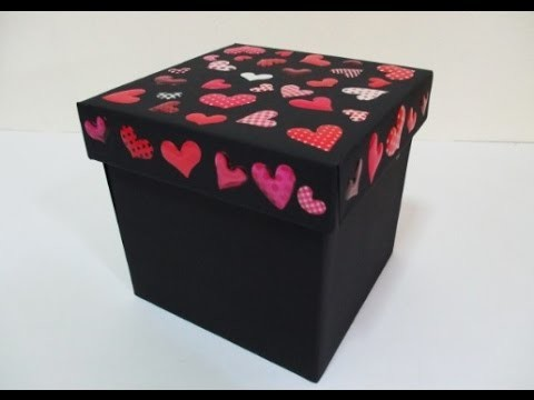 DIY : #92 RECYCLED Old Gift Box Into NEW Look ♥