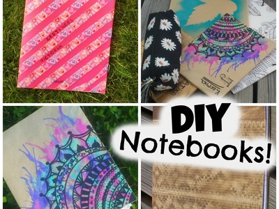 DIY easy & super cute tumblr notebooks!