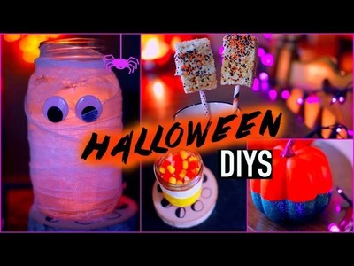 DIY halloween decorations + treats