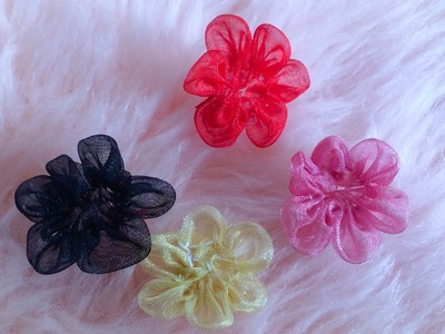 DIY: How to make a six petal ribbon flower.