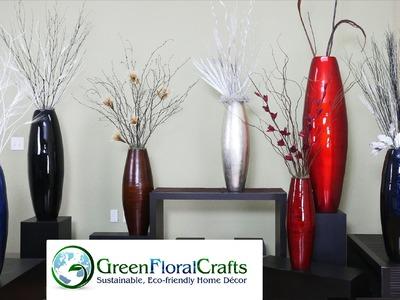 DIY Large Bamboo Vases - Designs Using Oval Cylinder Vases