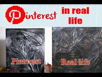 DIY Leaf Print Art - Pinterest in Real Life