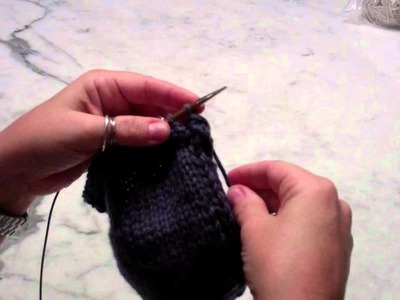 Double I-cord finishing: transition from the 1st to the 2nd I-cord