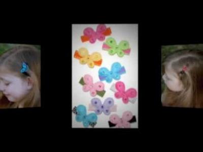 Handmade Headbands and Hair Clips Butterflies Hearts Flowers
