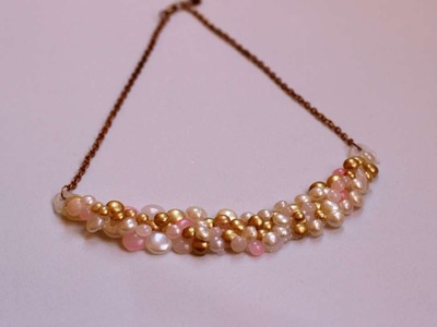 How To Create An Elegant  Hot Glue Pearl Necklace - DIY Style Tutorial - Guidecentral