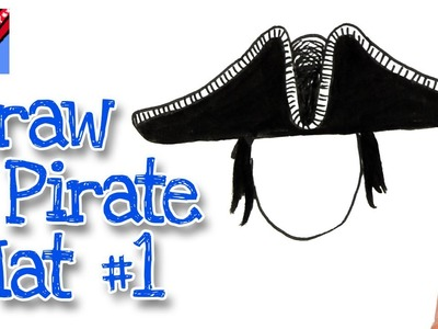 How to draw a Pirate Hat - Style 1