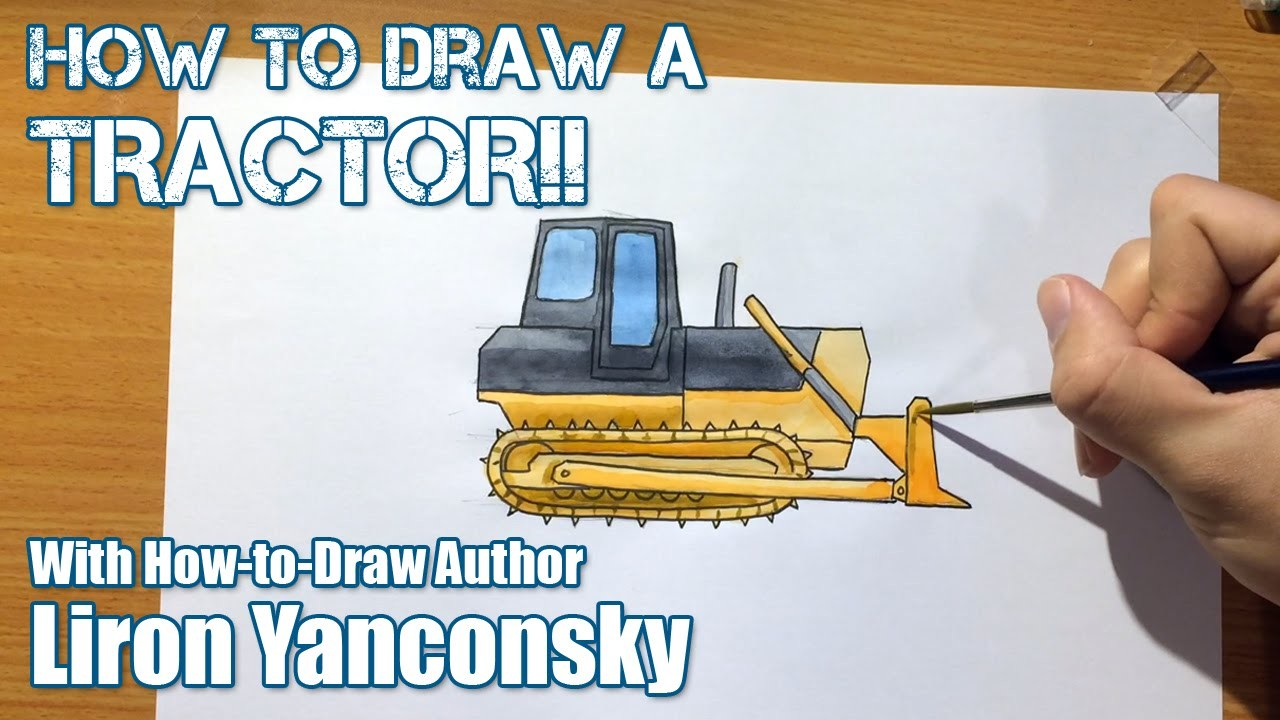 How to Draw For Kids: Bulldozer (LONG LESSON)