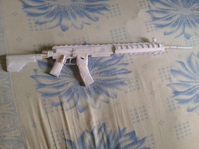 HOW TO MAKE A PAPER GUN THAT SHOOTS (HKMR556A1)TUTORIAL PART #4