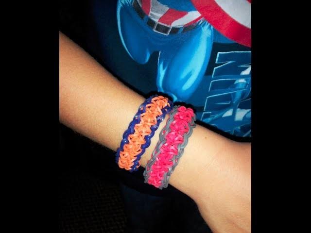 How to make a rainbow loom figure 8 bracelet