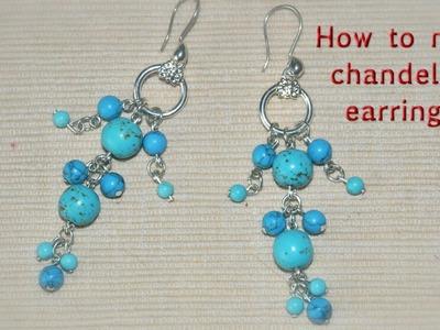How to make chandelier earrings.DIY