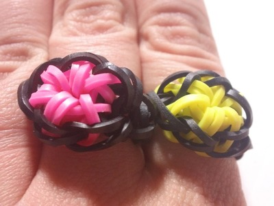 HOW TO: Starburst Ring Tutorial - Rainbow Loom