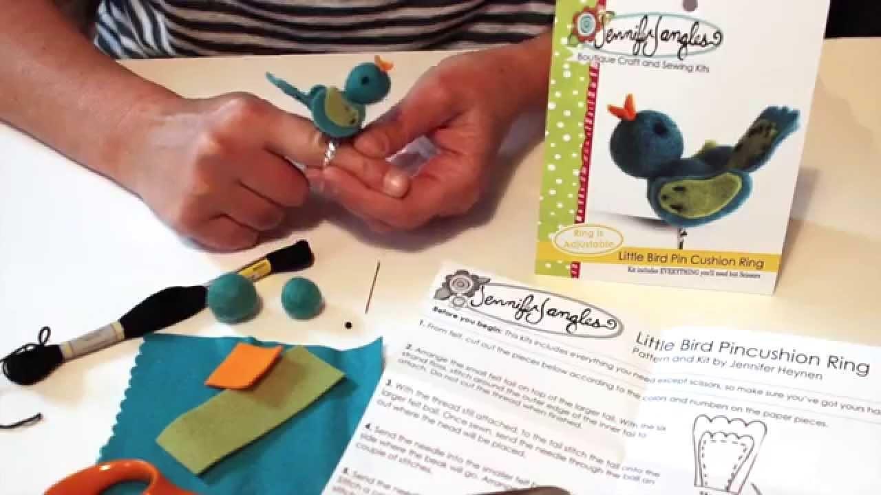 Little Bird Pin Cushion Ring Sewing Kit