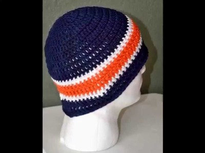 Men's Hand Crochet Beanies. Skull caps by Africancrab
