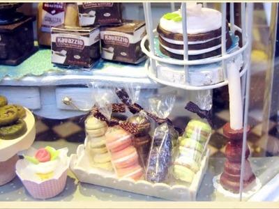 Miniature DIY Dollhouse Coffee Shop kit