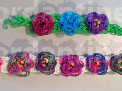 New Flower Sculpture Bracelet - Advanced - Rainbow Loom, Crazy Loom, Wonder Loom, Bandaloom