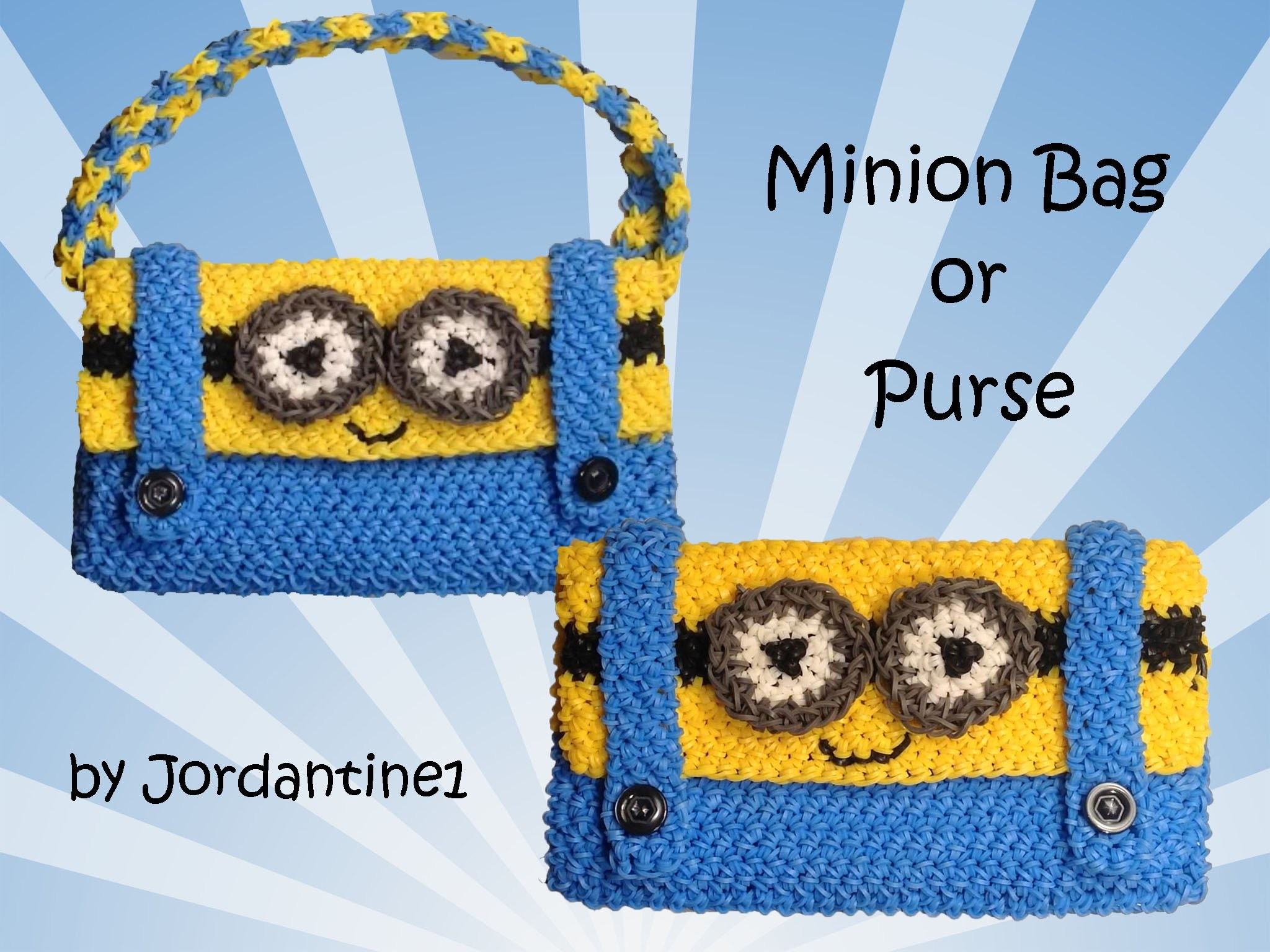 New Minion Bag. Purse. Pencil Case  - Loomigurumi. Amigurumi - Rainbow Loom - Hook Only - Crochet