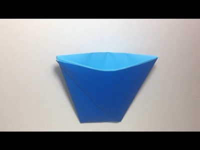 Origami - How to Make an Origami Paper Cup That Can Hold Water