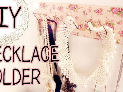 【ORIGINALS】 DIY Necklace Holder w. Household Items