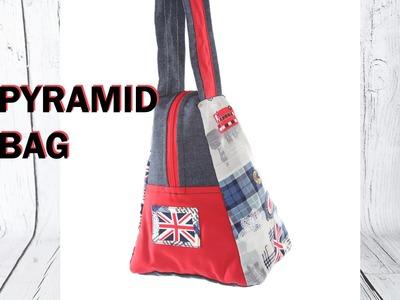 Pyramid style handbag - part 2. DIY Bag Vol 16B